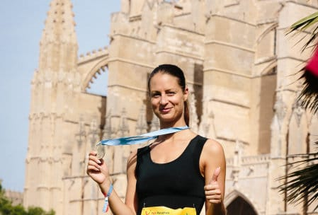Happy nach dem Zieleinlauf in Palma de Mallorca