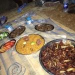 Kamelfleisch-Dinner