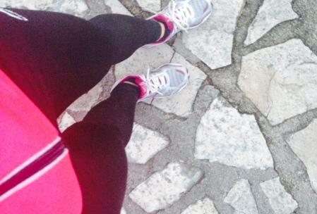 Laufen am Lungomare in Opatija/Kroatien