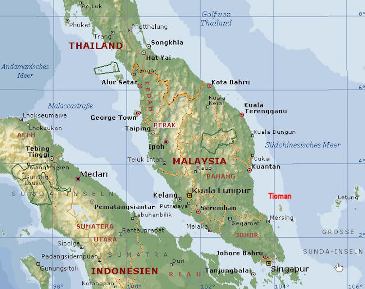 Malaiische Halbinsel (Westen)