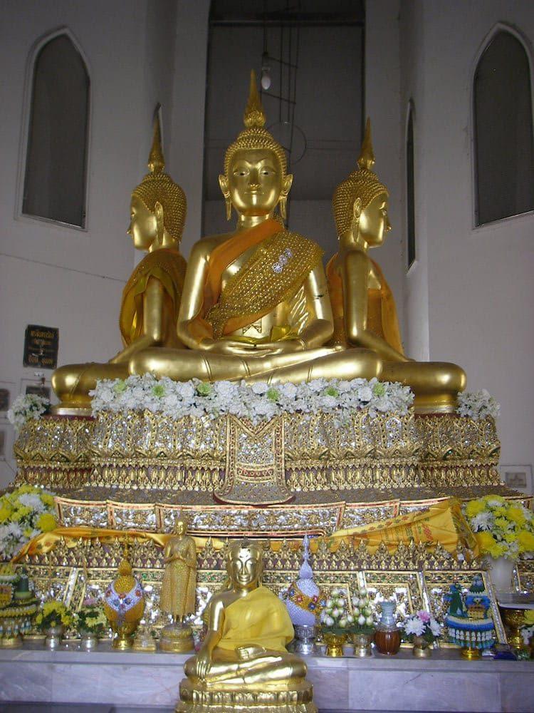 Tempel in Bangkok ohne Touristen