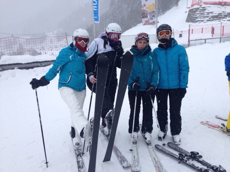 Skifahrer Mädels