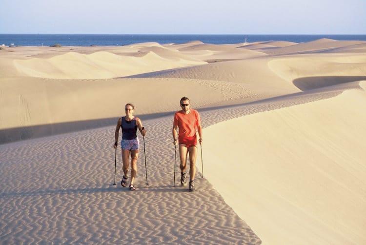 Nordic Walking in den Sanddünen auf Gran Canaria © Thomas Cook Austria