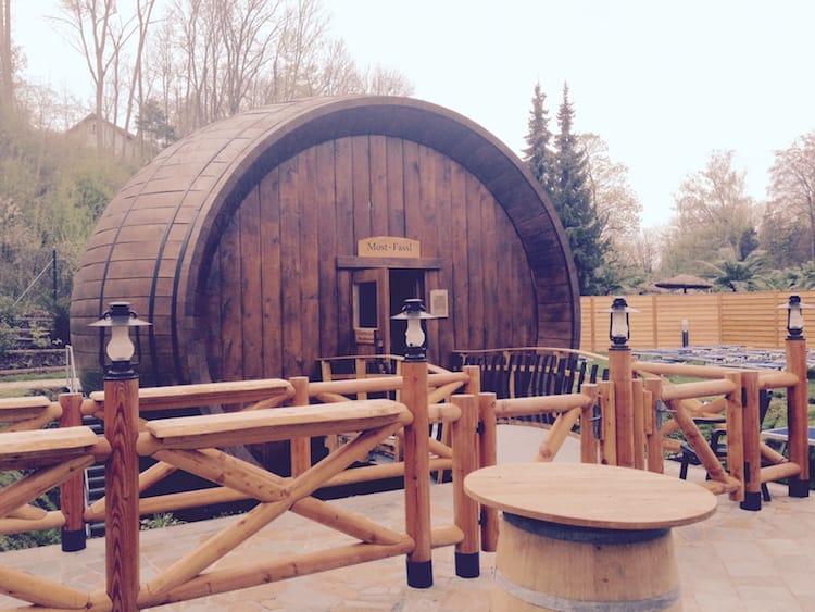 Mostfassl-Sauna in der Eurotherme Bad Schallerbach