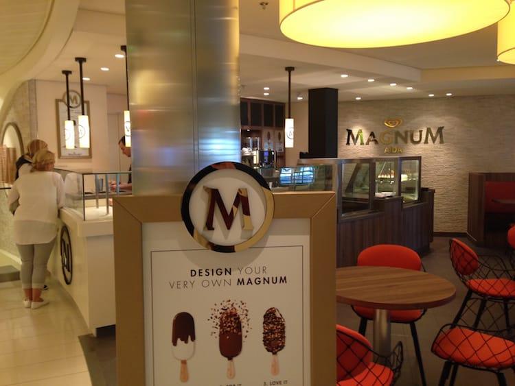 Magnum Concept Store auf der AIDAprima