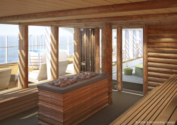 AIDAprima Kelo Sauna_Organic Spa