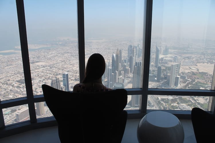 Ausblick vom At the Top - Burj Khalifa