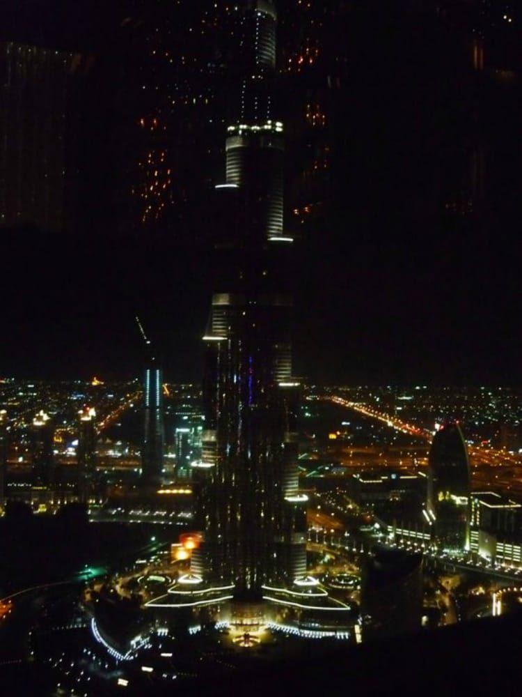Blick auf Burj Khalifa von der der Neos Skybar