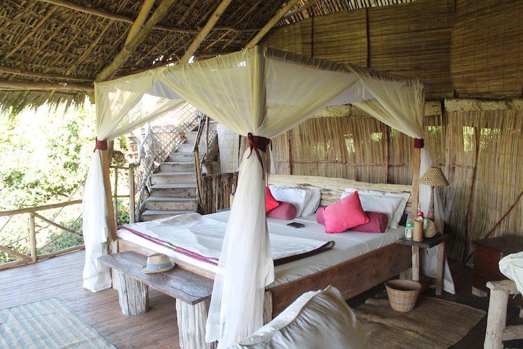 Mein Schlafbereich im Baumhaus