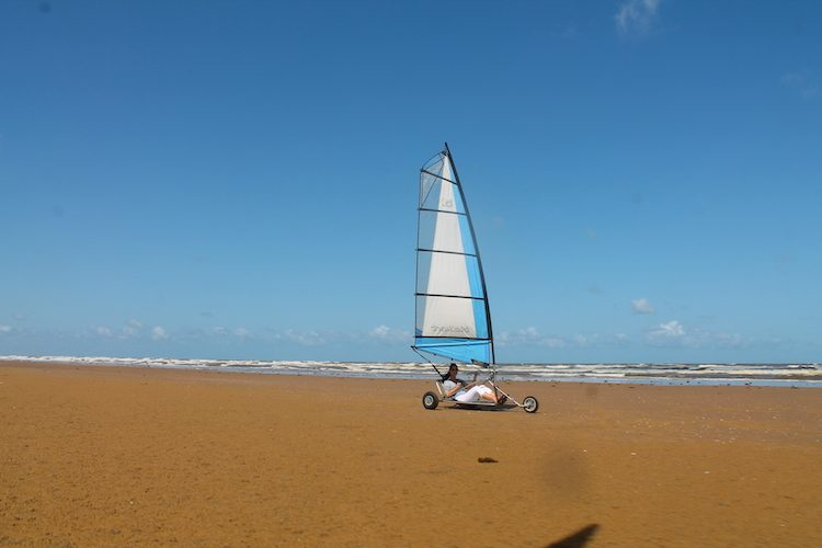 Sandsegeln am Indischen Ozean