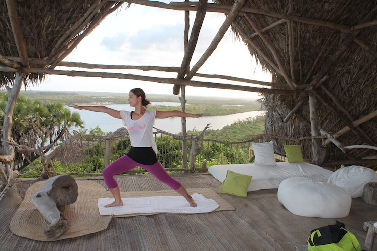 Yoga in der Sunset Lounge #kamahyogawear