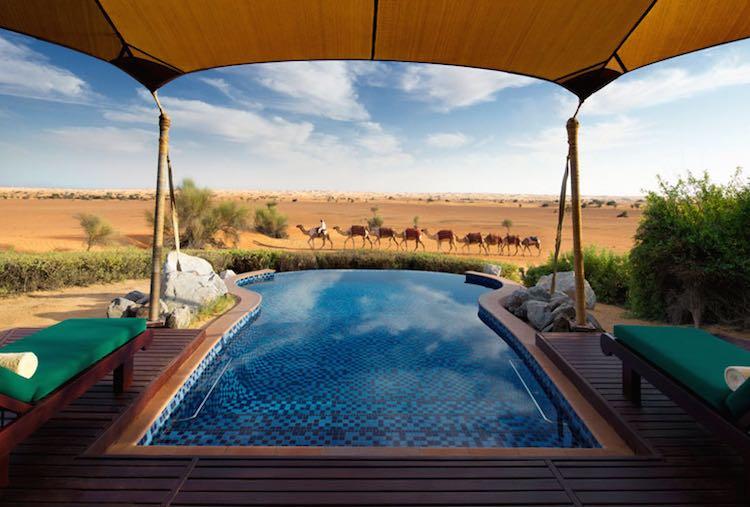 Private Pool in der Beduinen Suite samt Traumausblick (c) Al Maha, a Luxury Collection Desert Resort & Spa, Dubai