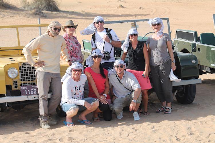 Direkt von der Wüstensafari ins Camp