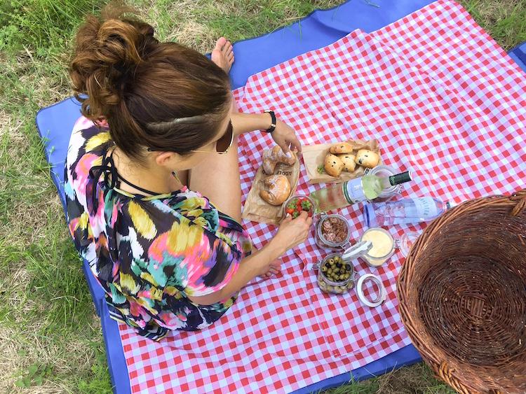 Picknick im ringelgrünen Hügelwiesenland