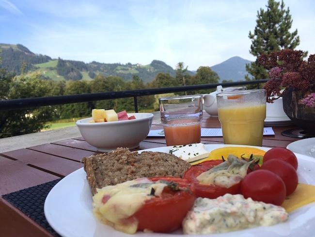 Frühstück with a view