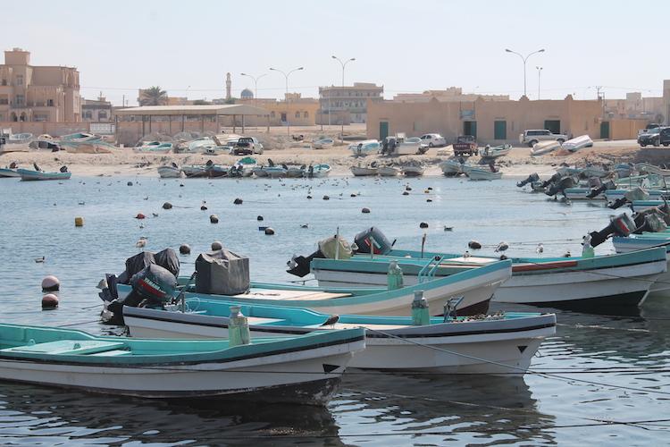 Der Hafen von Mirbat