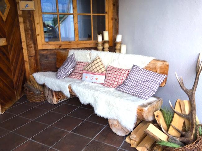 Ruheplatz in der Sauna
