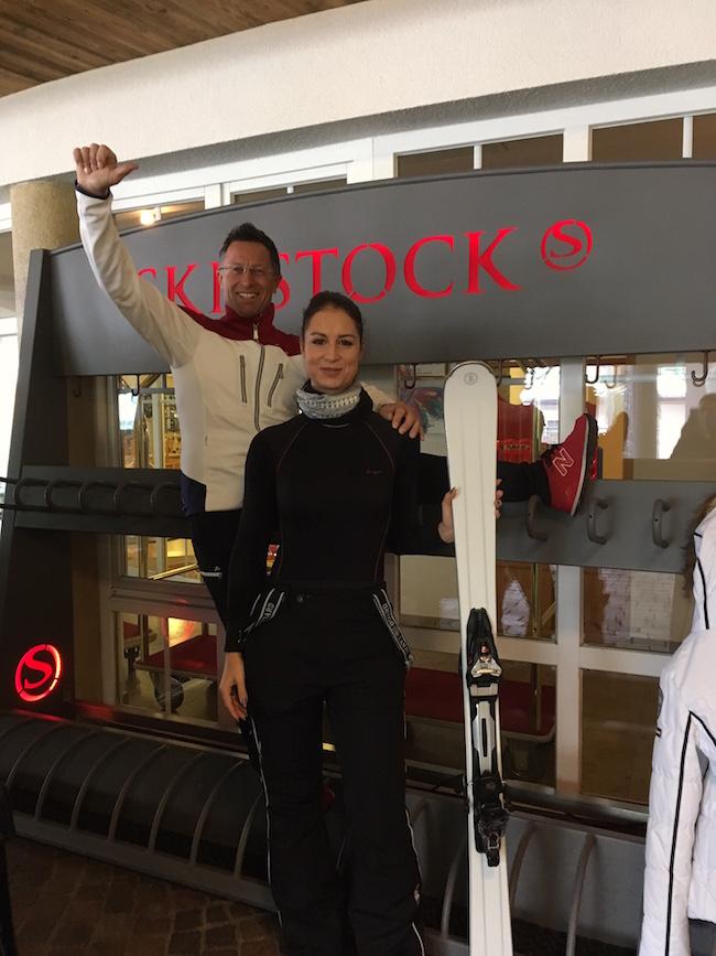Top motiviert mit Hans Enn vor der ersten Skiausfahrt