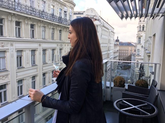 Wien Blick vom Hotelbalkon