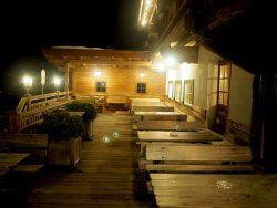 Gasthof Hagstein Terrasse Nacht